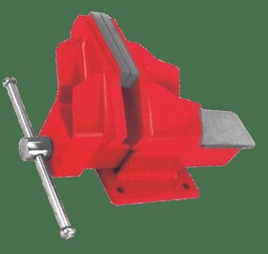 offset steel bench vise